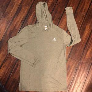 Men's Long-sleeve Adidas Hooded Tee